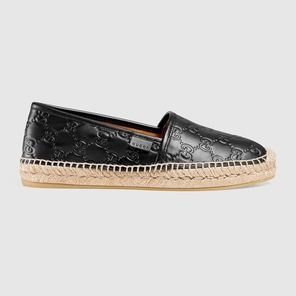 7db70d051 Gucci Shoes   Signature Leather Espadrille   Poshmark